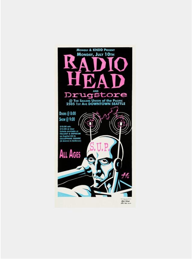 Radiohead, 1995 Justin Hampton Original Poster