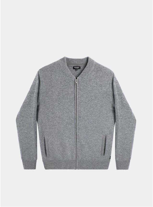 Grey Cashmere Tennis Jacket