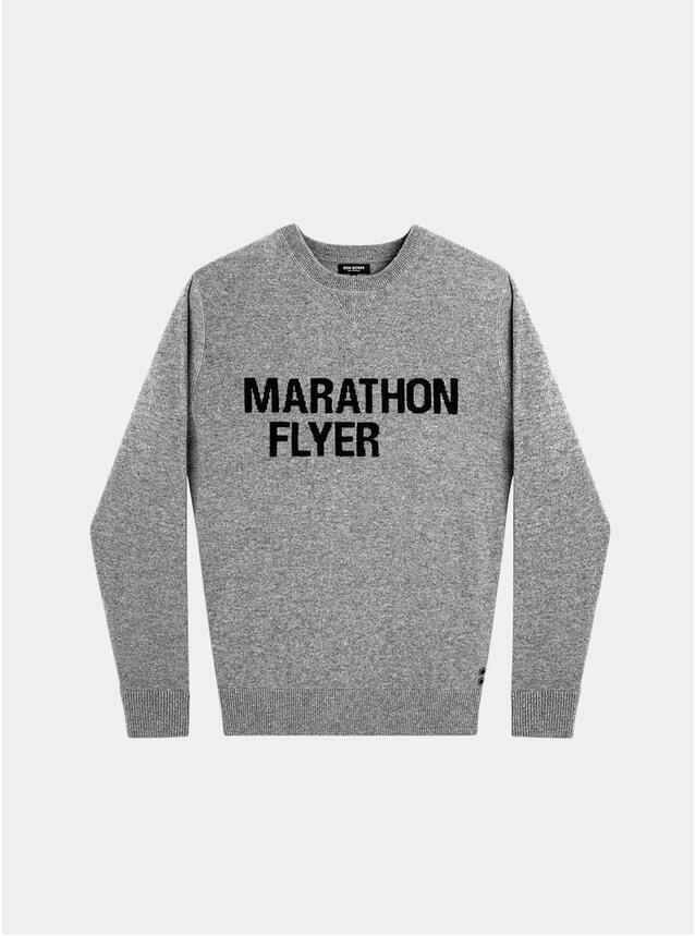 Grey Melange Cashmere Marathon Flyer Sweatshirt