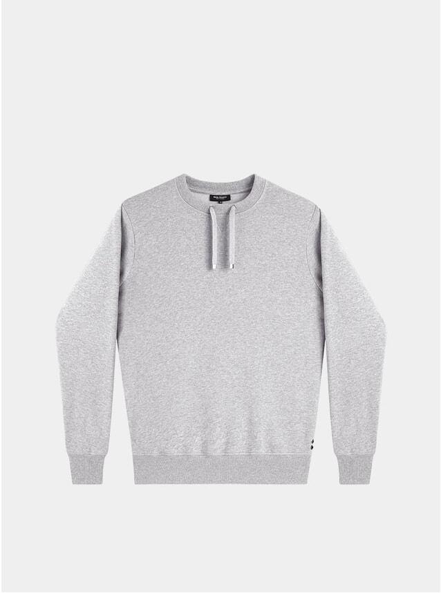 Grey Melange Drawstring Sweatshirt