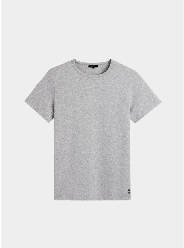 Grey Melange Eyelet T Shirt
