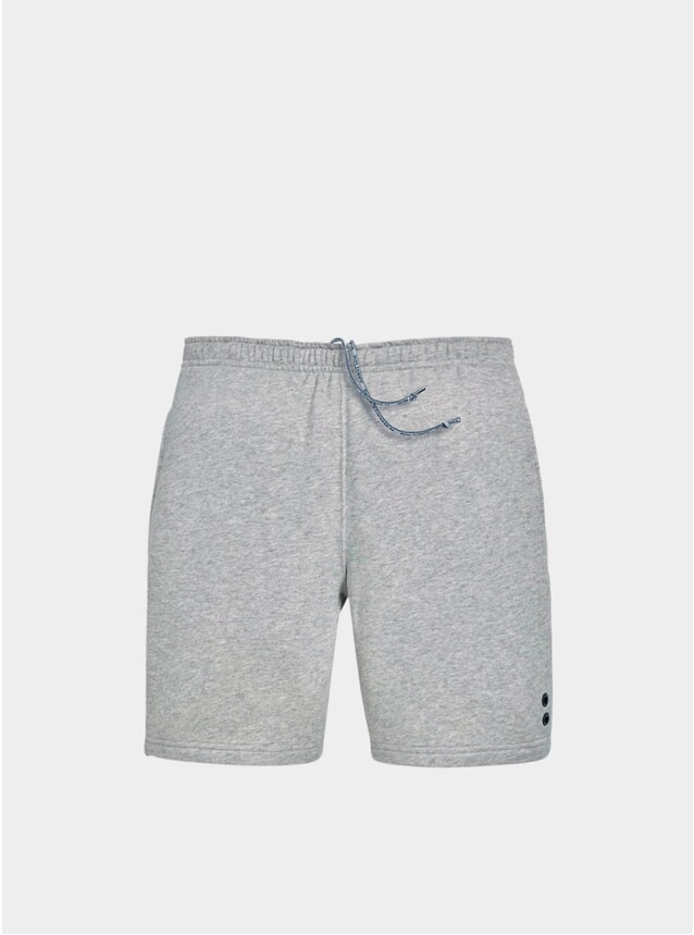 Grey Melange Jogging Shorts