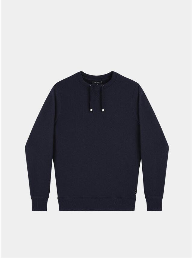 Navy Drawstring Sweatshirt