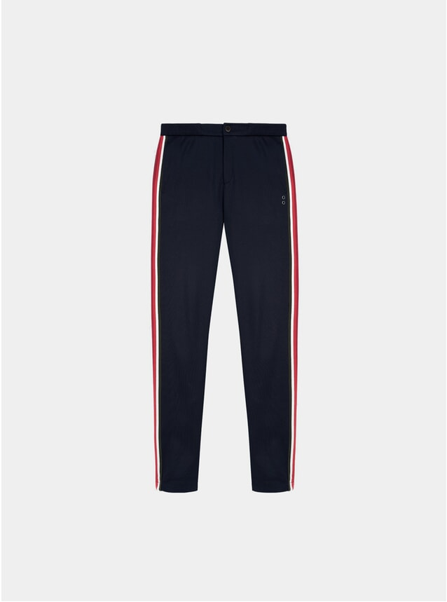 Navy Striped Tennis Trousers