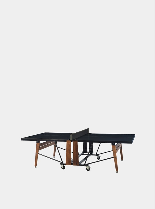 Black Folding Ping Pong Table