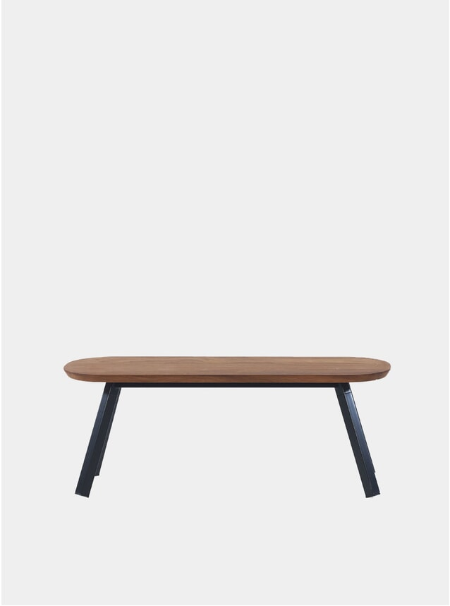 Black / Walnut You & Me Bench