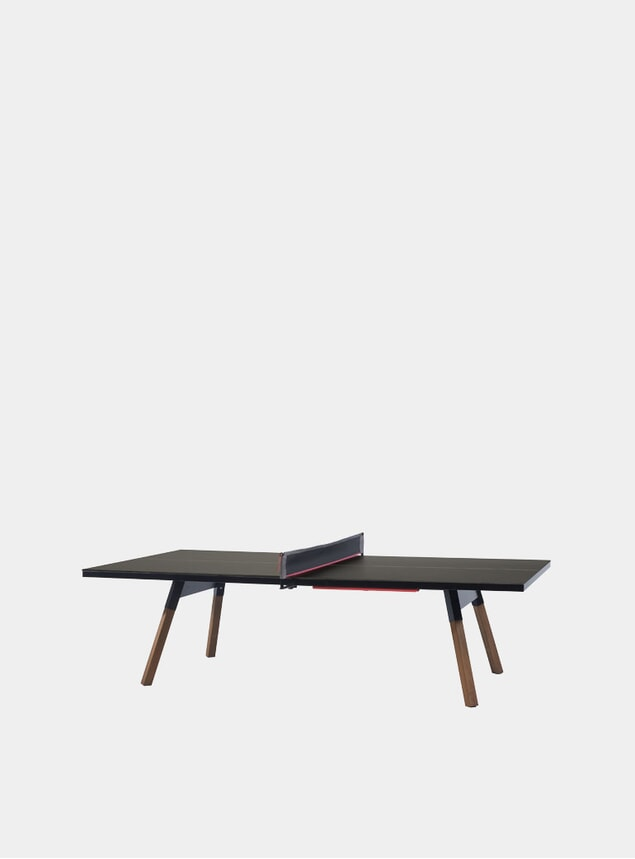 Black You & Me Outdoor Ping Pong Table