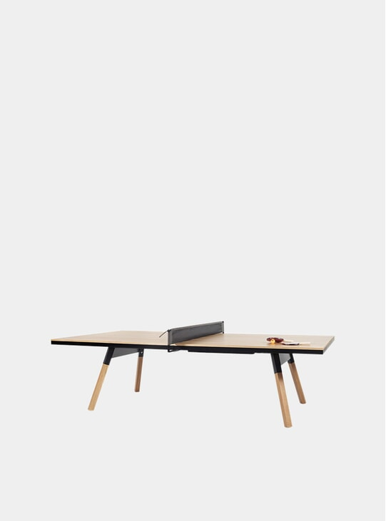 Oak / Black You & Me Indoor Ping Pong Table