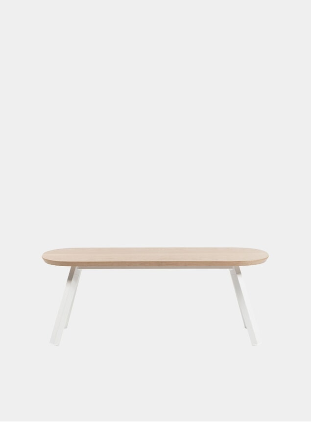 White / Oak You & Me Bench