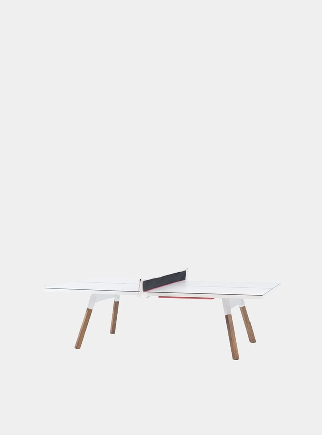 White You & Me Outdoor Ping Pong Table
