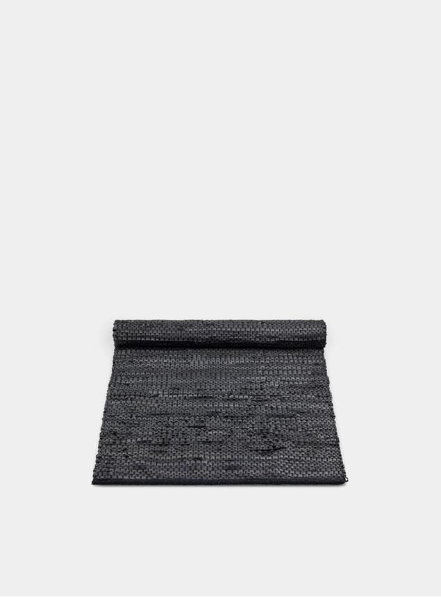 Black Bicycle Tube Rug