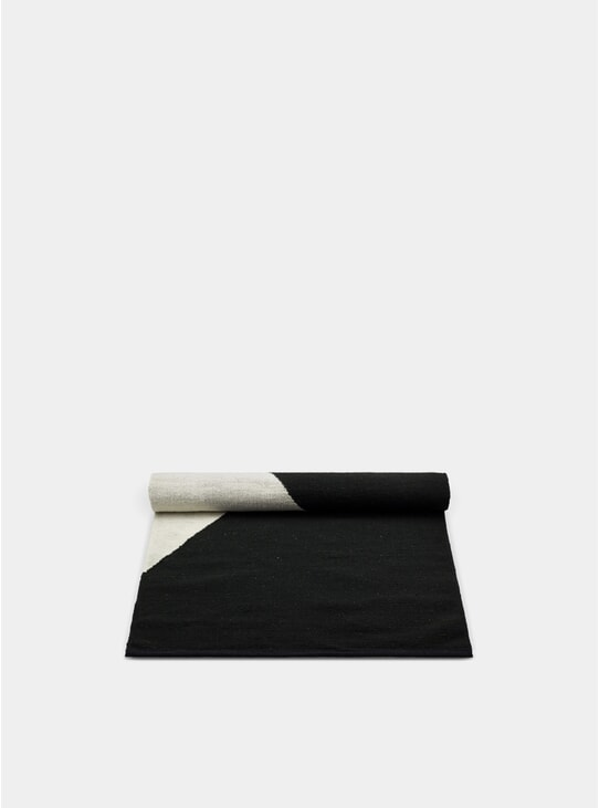Black / Grey / White Horizon Wool Rug
