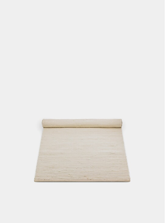 Desert White Cotton Rug