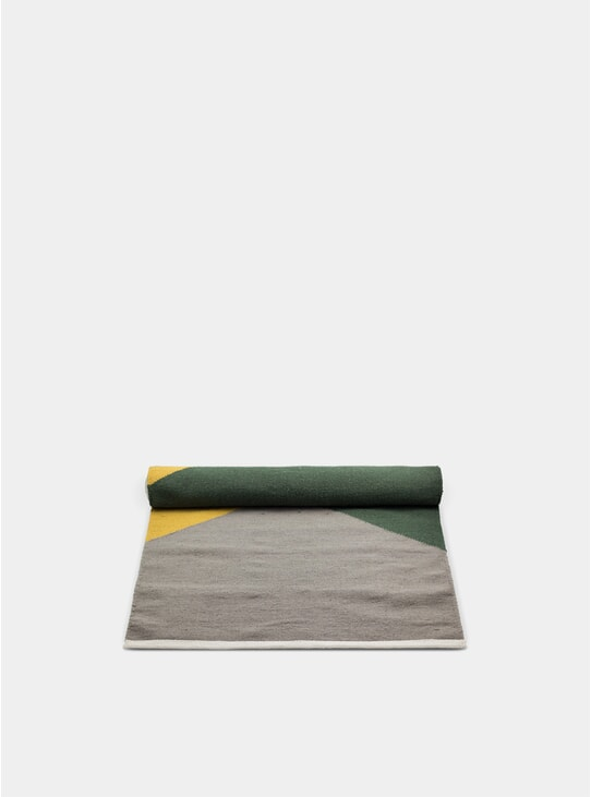 Green / Amber / Grey Horizon Wool Rug