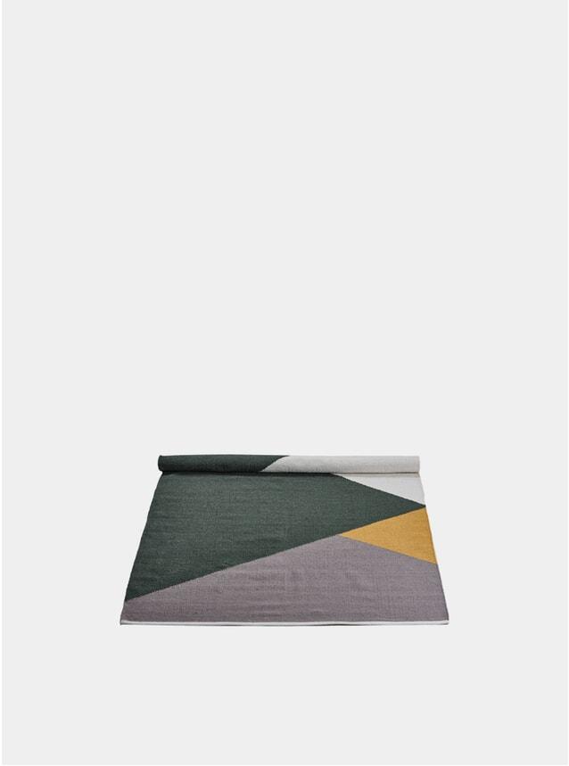 Large Green / Amber / Grey Horizon Wool Rug