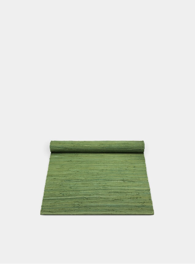 Olive Green Cotton Rug