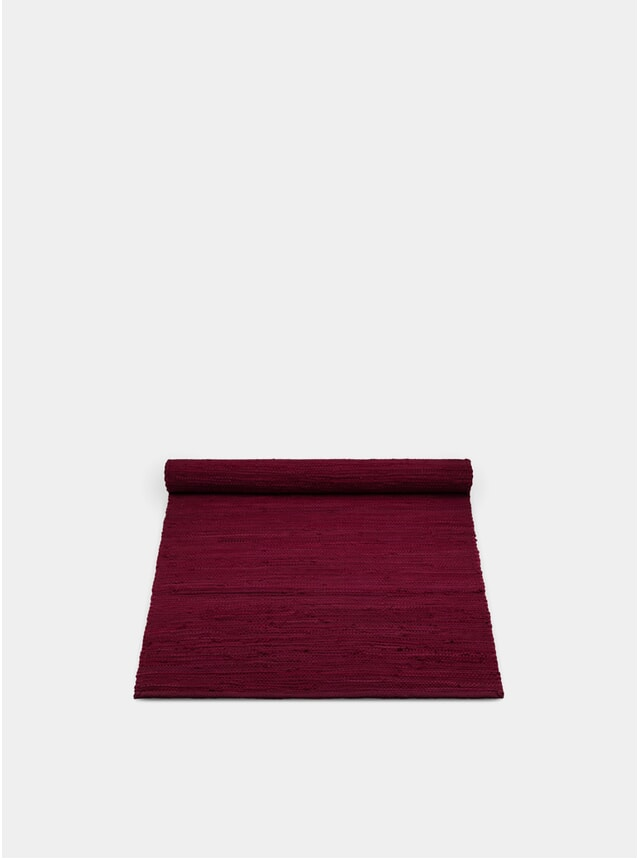 Rosewood Red Cotton Rug