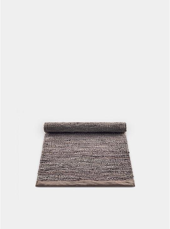 Wood / Leather Rug