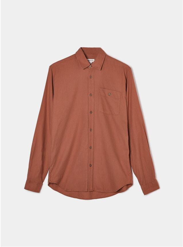 Rust Orange Collared Shirt