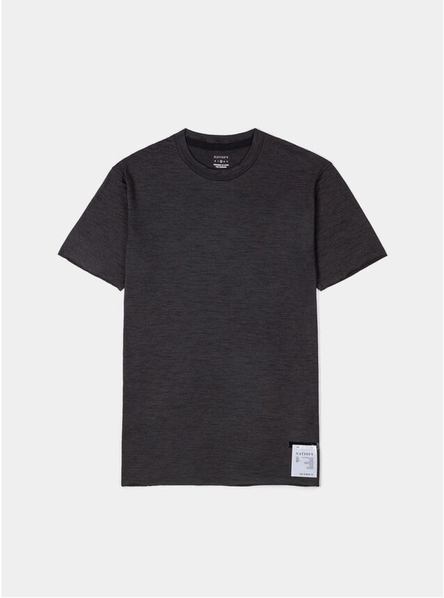 Black Wash Cloud Merino 100 T Shirt