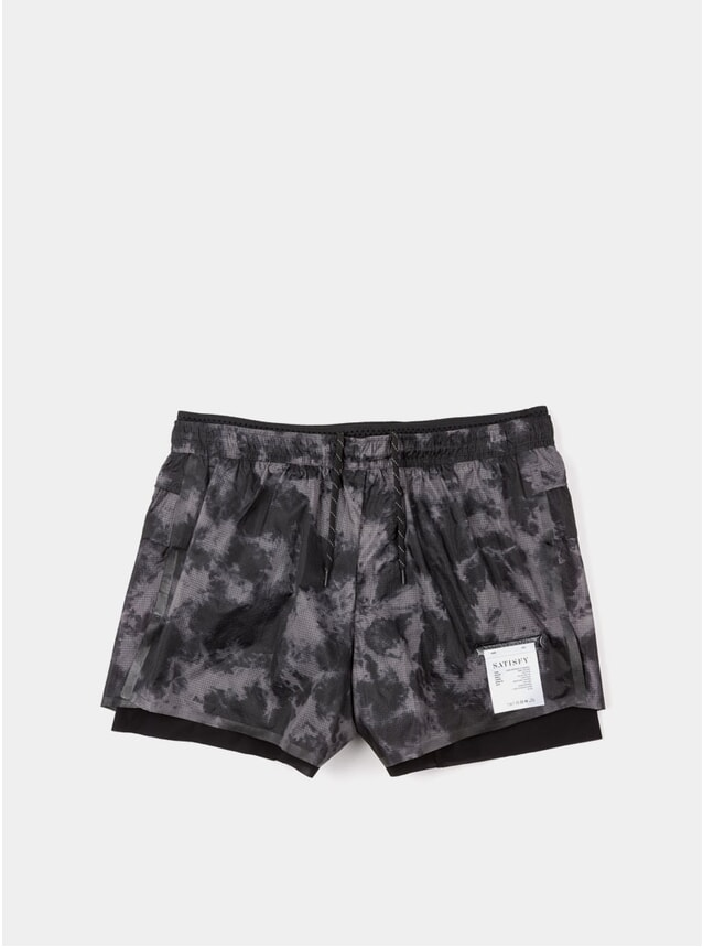 "Grey Tie-Dye Long Distance 3"" Shorts"