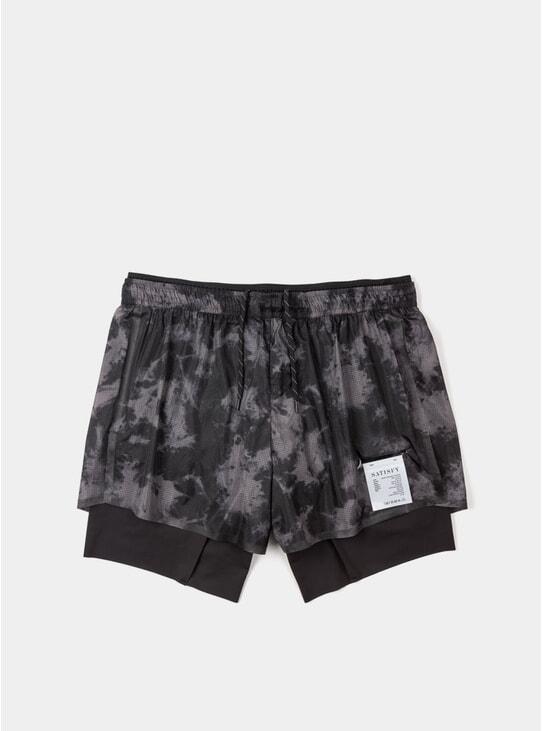 "Grey Tie-Dye Short Distance 8"" Shorts"