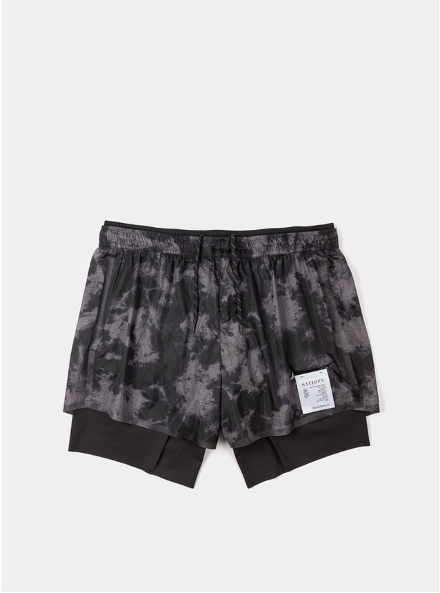 "Grey Tie-Dye Short Distance 8"" Shorts"