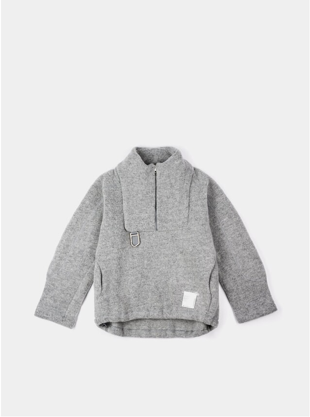 Heather Grey Air Wool Jacket