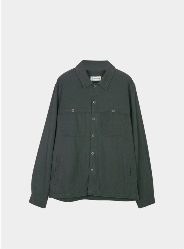 Alpine Green Front Yoke Overshirt