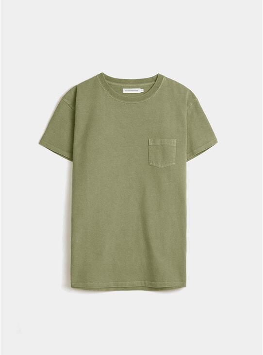 Army Green Jersey Print T Shirt