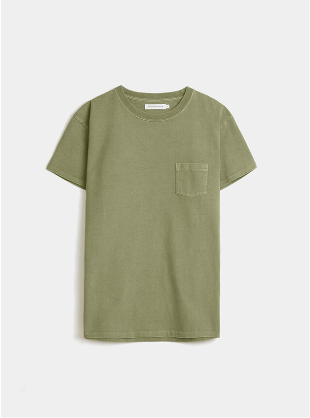 Army Green Jersey Print T Shirt