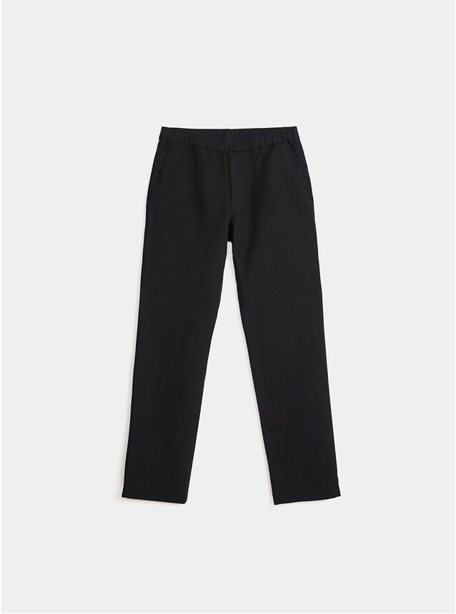 Black Cotton / Wool Trousers