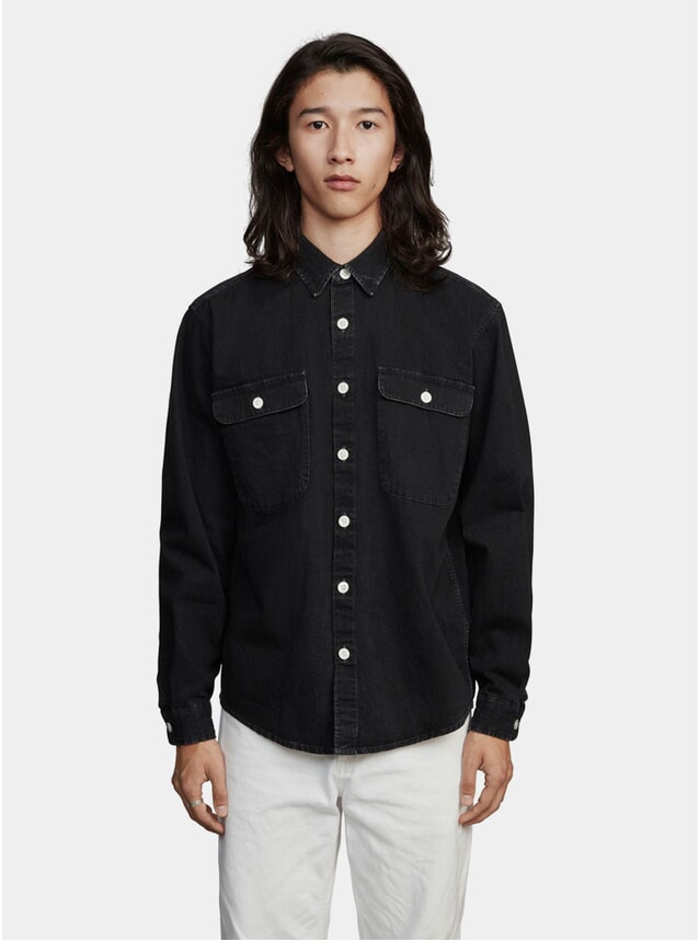 Black Denim Boxy One Shirt