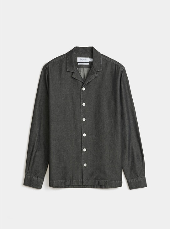 Black Notch Denim Shirt