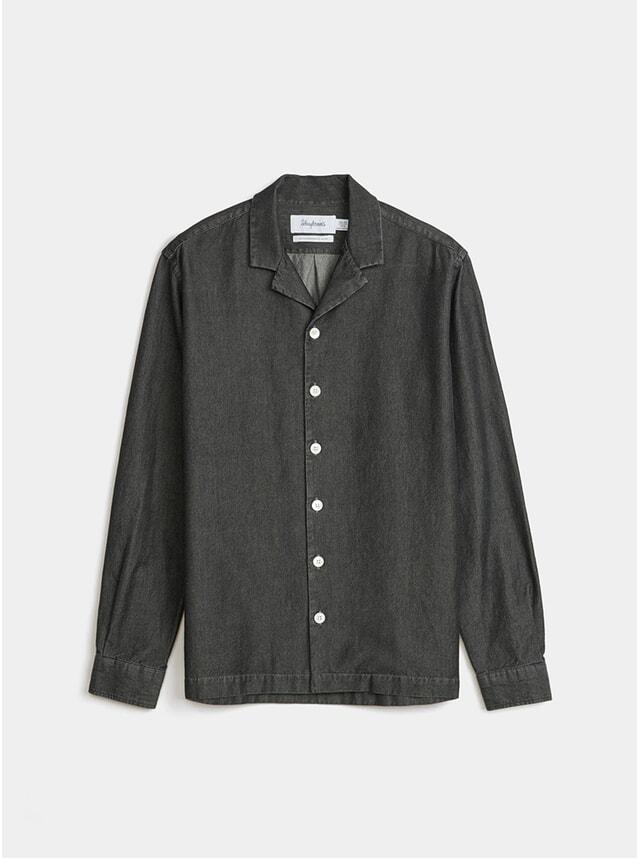 Black Notch Denim Shirt