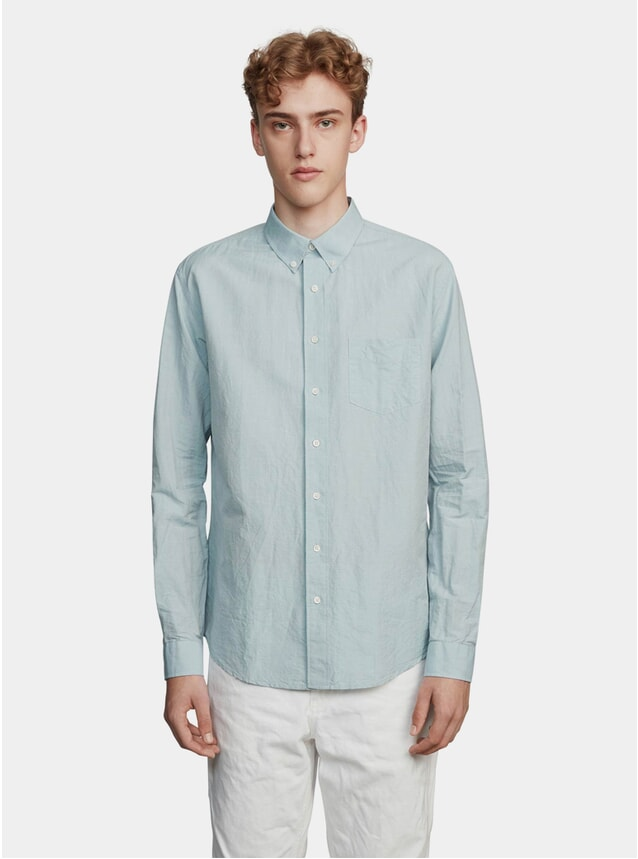 Blue / Green Linen Shirt