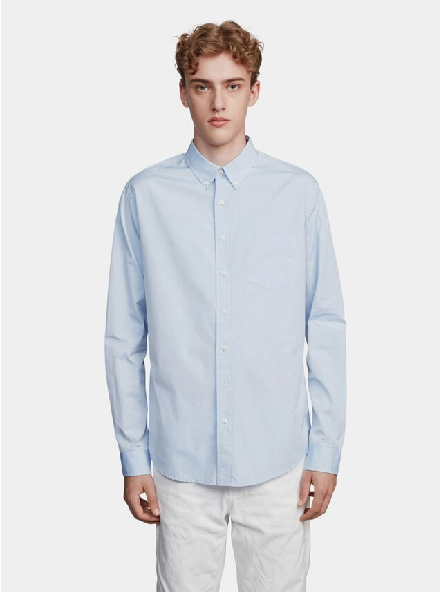 Blue Poplin One Shirt
