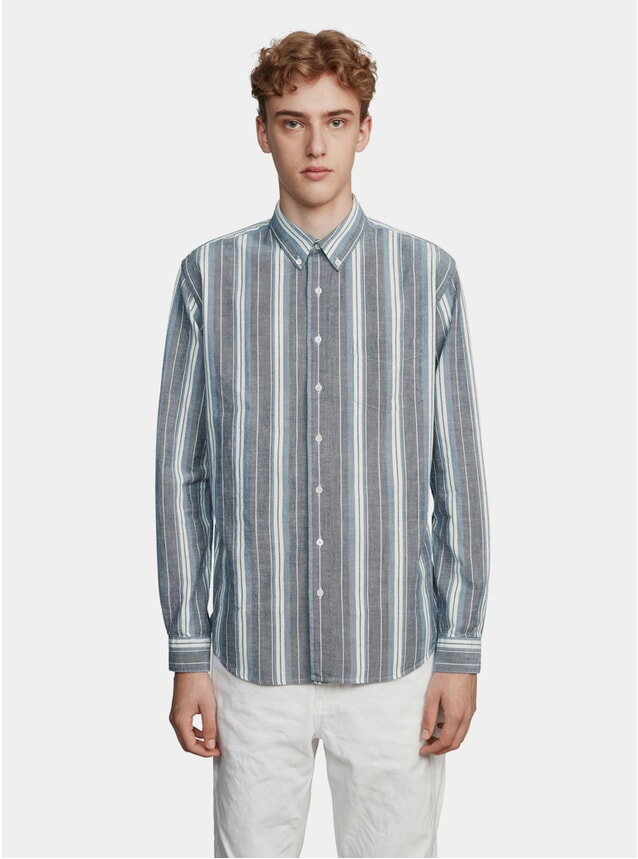 Blue / White Oxford Indigo Stripe Shirt