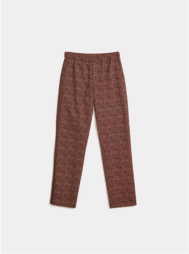 Burgundy Jacquard Melange Trousers