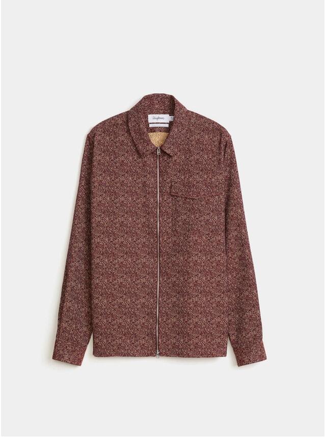 Burgundy Jacquard Melange Zipshirt