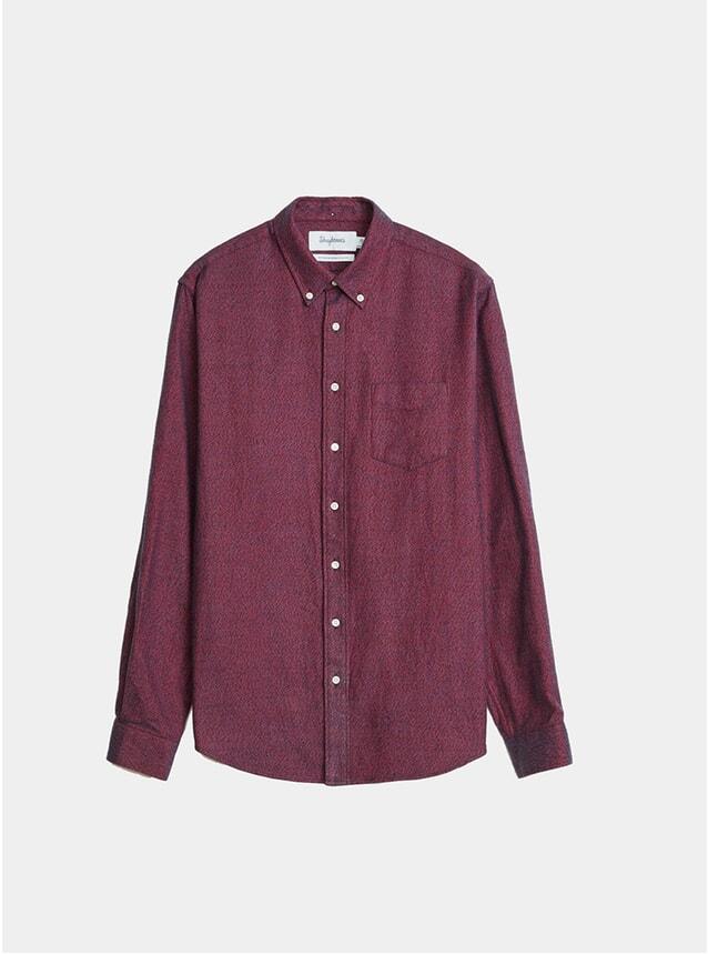 Burgundy Melange Flannel BD Shirt