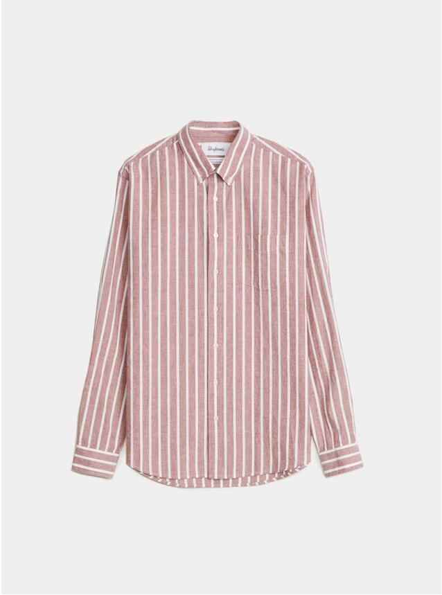 Burgundy / White Bold Stripe BD Oxford Shirt
