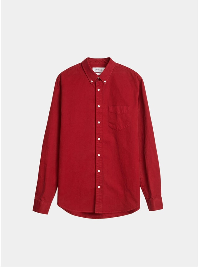 Cadmium Red Overdyed BD Shirt
