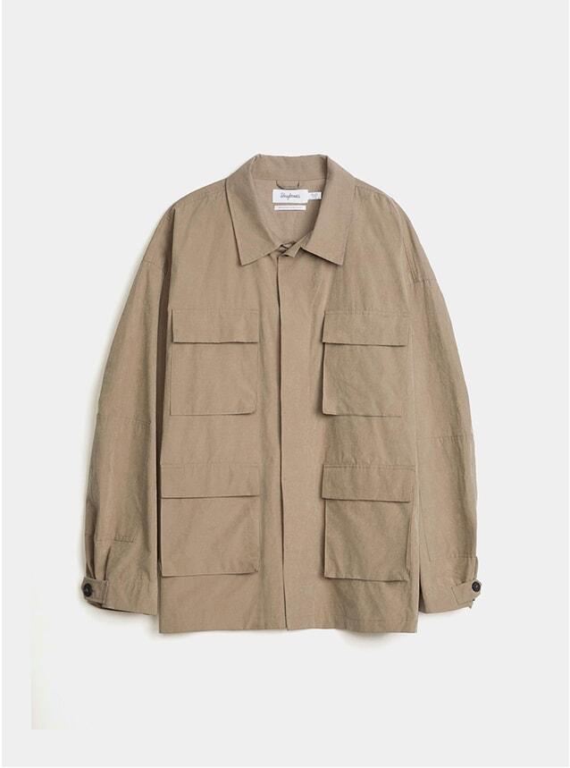Dark Beige Oversized Army Jacket