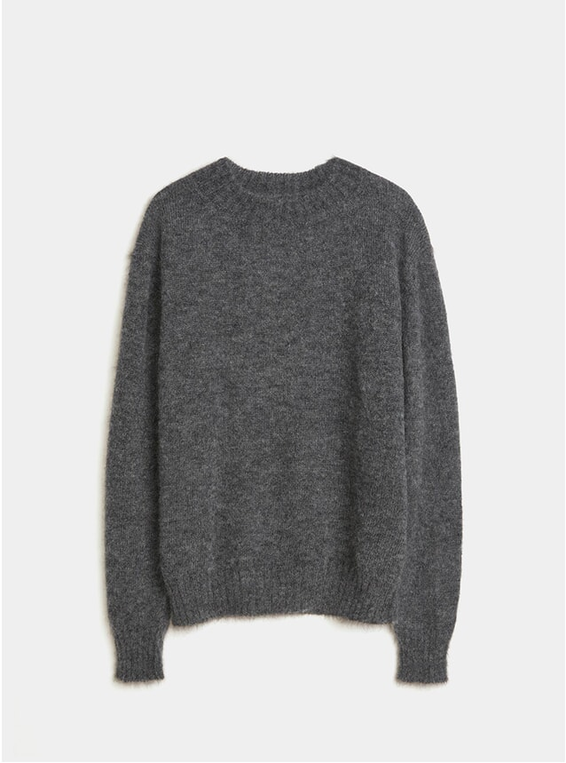 Dark Grey Melange Crew Neck