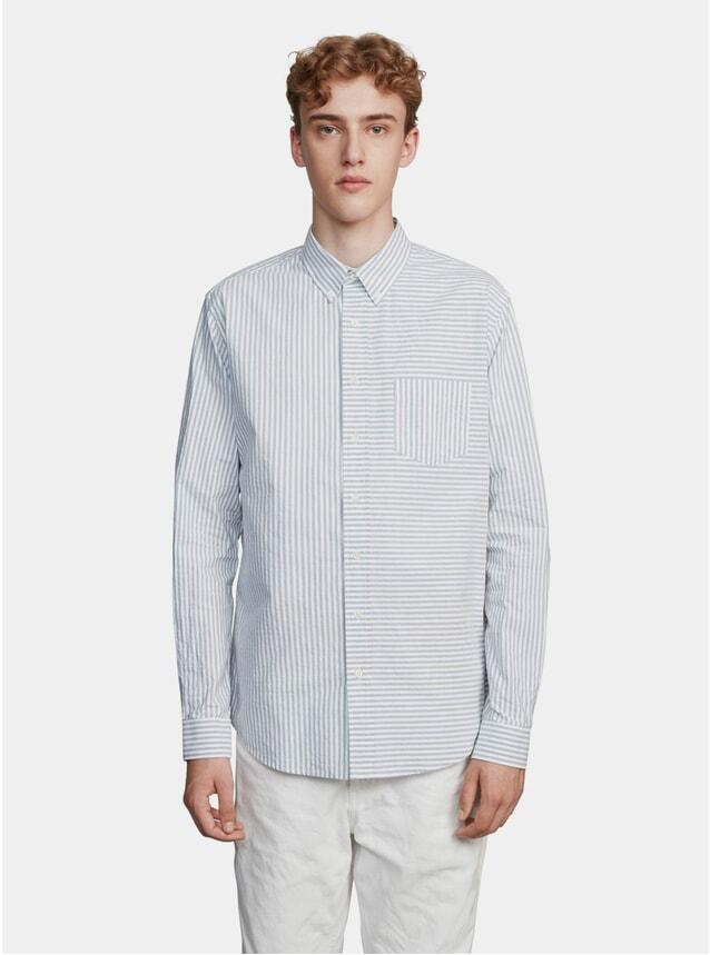 Light Grey / Off White Pencil Stripe Shirt