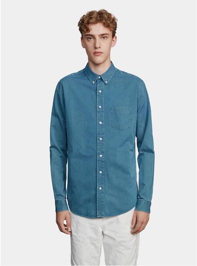 Mid Blue Indigo Jeans Shirt