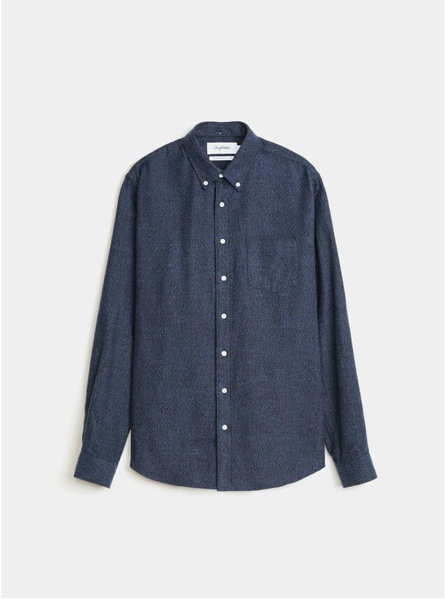 Navy Melange Flannel BD Shirt