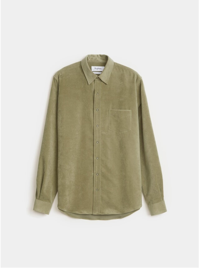 Olive Moleskin Shirt