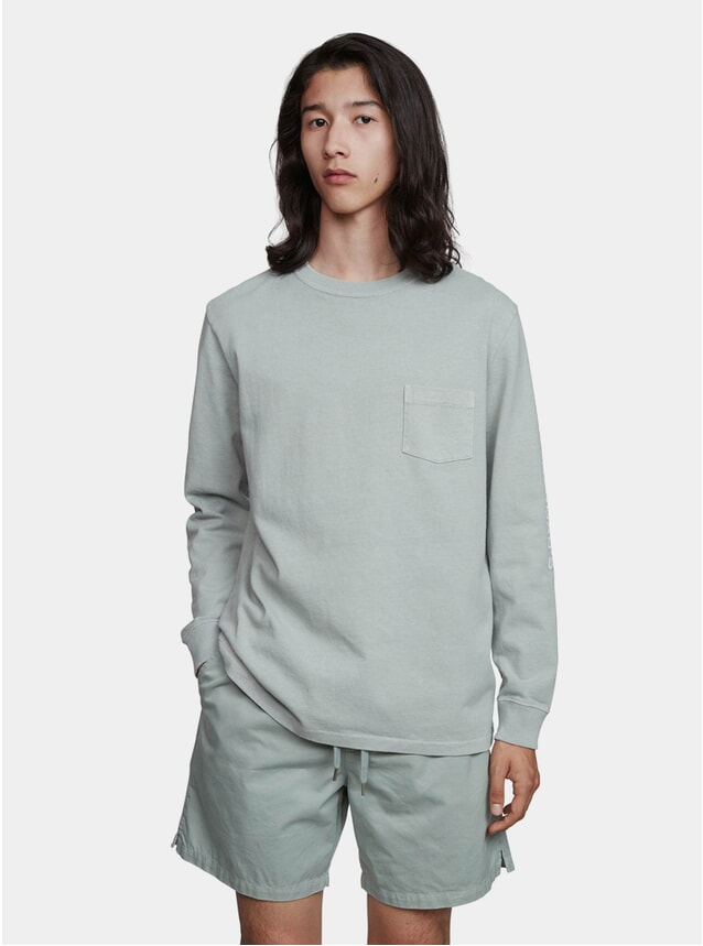 Slate Green Jersey GD LS T Shirt